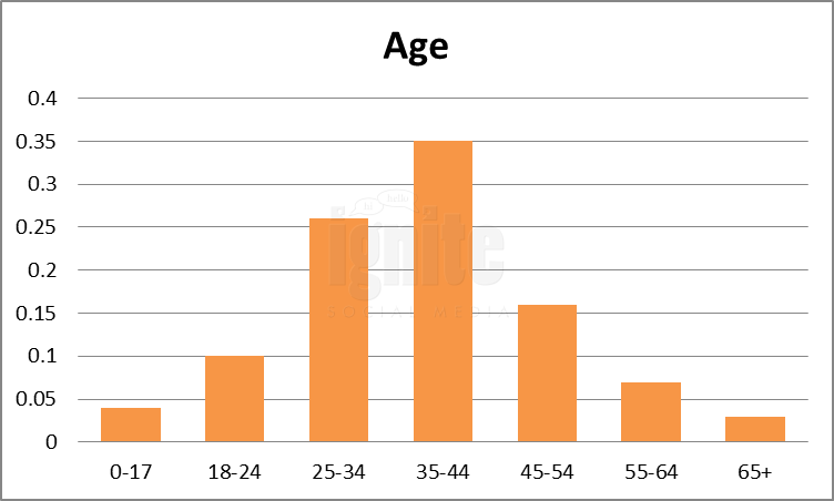 Age Breakdown For Digg
