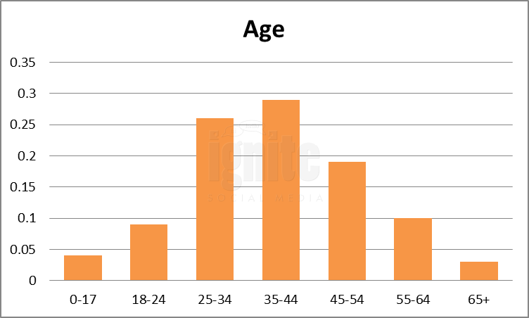 Age Breakdown For Flickr