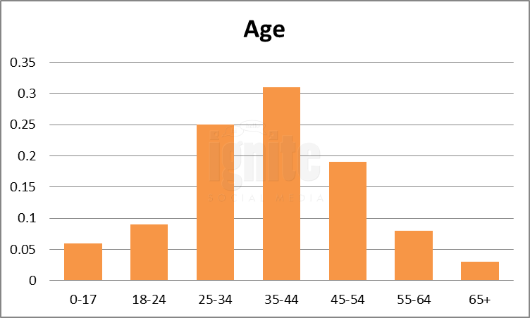 Age Breakdown For Flixster