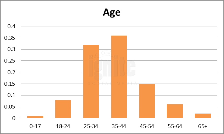 Age Breakdown For Foursquare