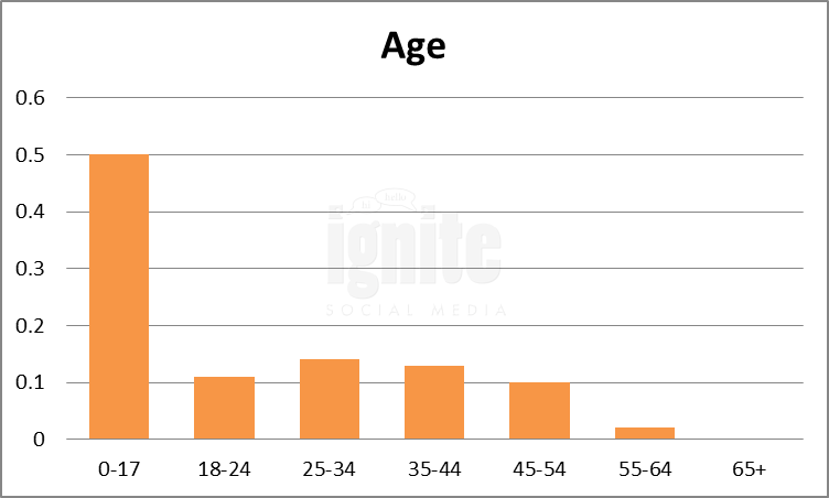 Age Breakdown For Habbo