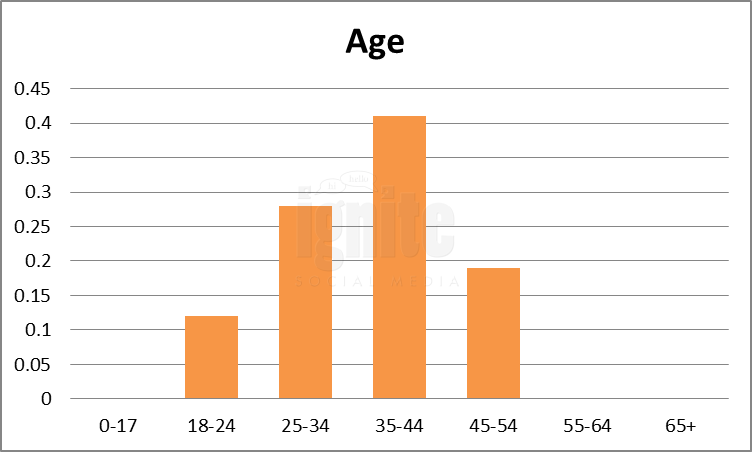 Age Breakdown For Identi.ca