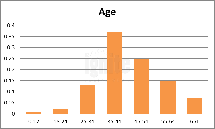 Age Breakdown For Newsvine