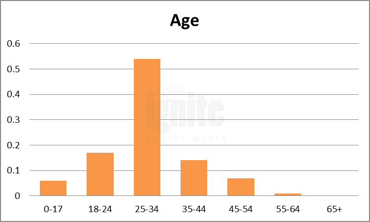 Age Breakdown For Taringa
