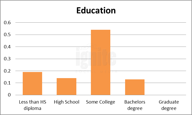 Education Breakdown For Wer-kennt-wen