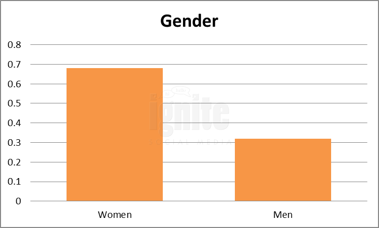 Gender Breakdown For Bebo