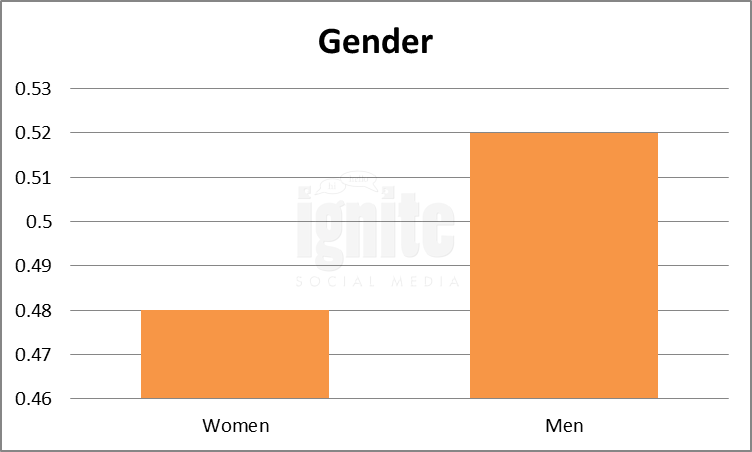 Gender Breakdown For Netlog