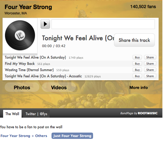 Root Music - Four Year Strong Example