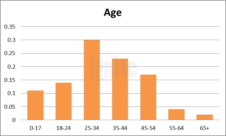 Age Breakdown For Friendster
