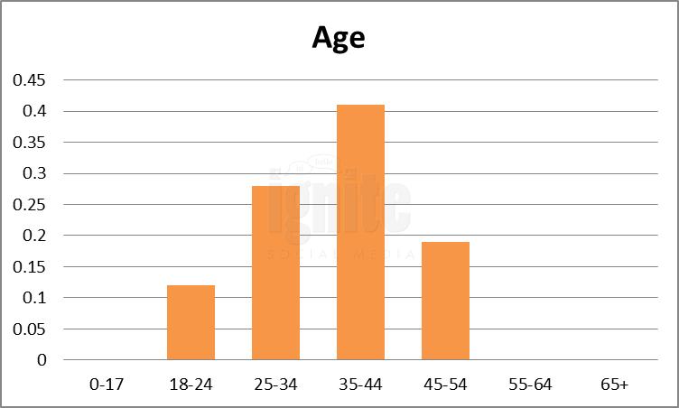 Age Breakdown For Identi.ca
