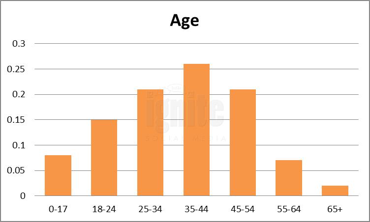Age Breakdown For Last.fm