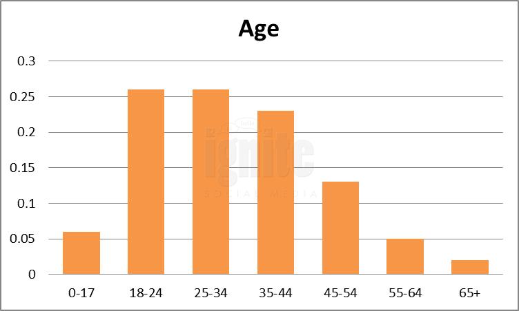 Age Breakdown For Tumblr
