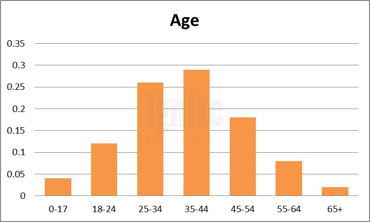 Age Breakdown For Twitter