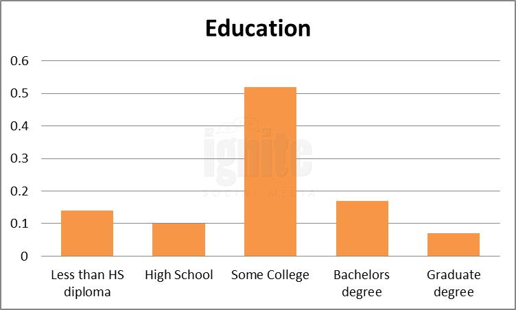 Education Breakdown For Netlog