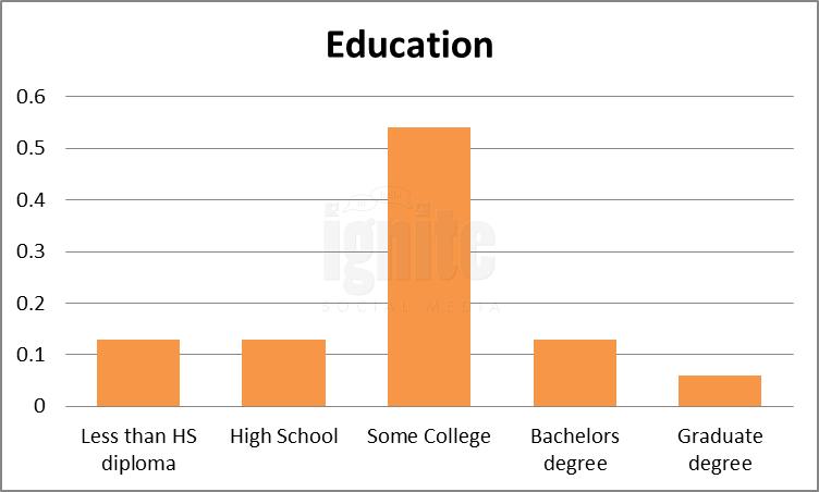 Education Breakdown For Skyrock