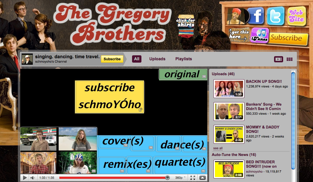 YouTube - Gregory Brothers