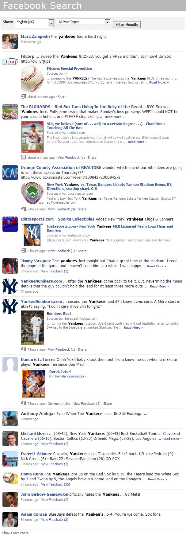 Ignite Social Media Agency | Facebook Search vs Twitter